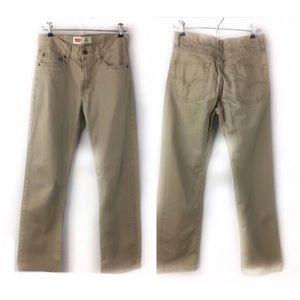 Levi's 514 Straight Boy 16 Reg (28x28) khaki Pants